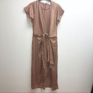 NWT Charming Charlies Brown Striped Dress
